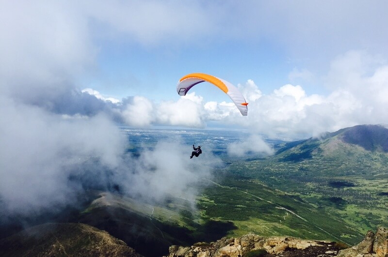 Hang Glider on Flattop Mountain