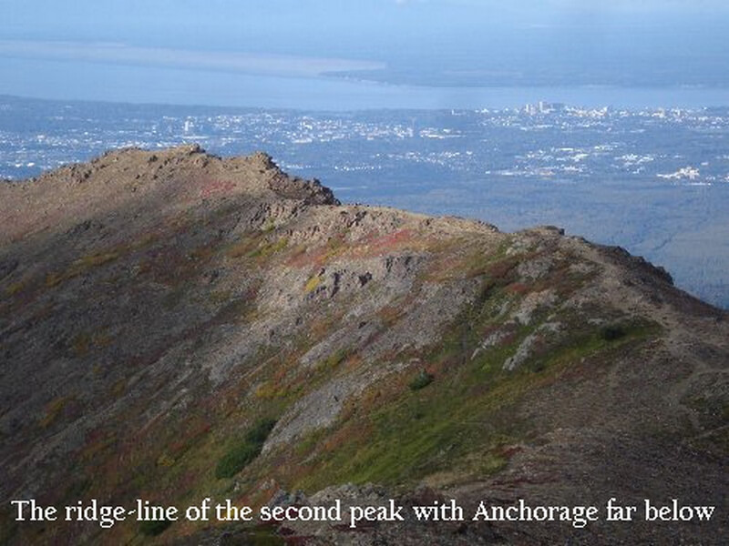 The Second Peak with Anchorage below - Flattop Anchorage, Alaska