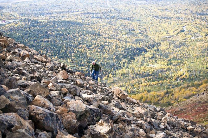 Hiking Flattop in Fall Anchorage, Alaska